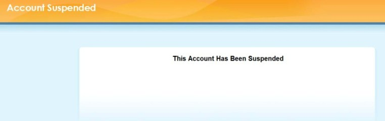 this account has been suspended wordpress