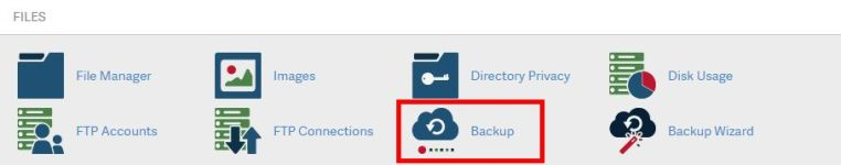 backup database in cpanel