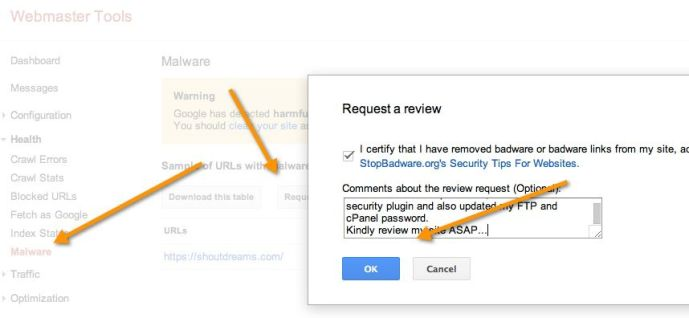 Malware-review-request-google-webmasters