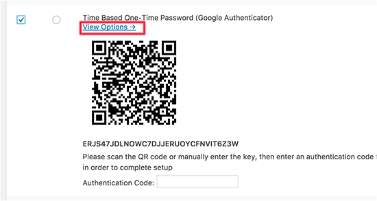 Google Authenticator One-Time Password