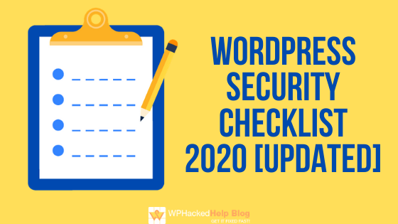 WordPress security checklist