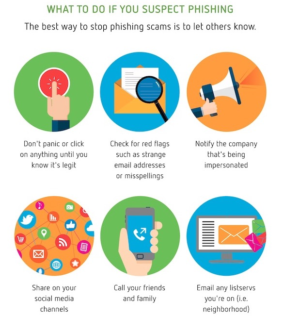 what to do if you suspect phishing