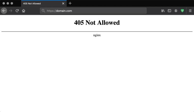 http error 405 method not allowed nginx-firefox