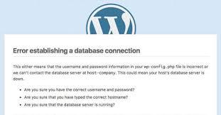 Establishing Database connection error in WordPress