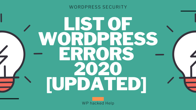 Most common wordpress problems in website