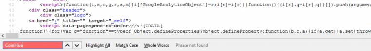 find-CoinHive-malware-wordpress