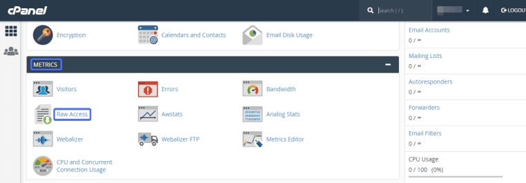 block IP addresses of site cpanel wordpress