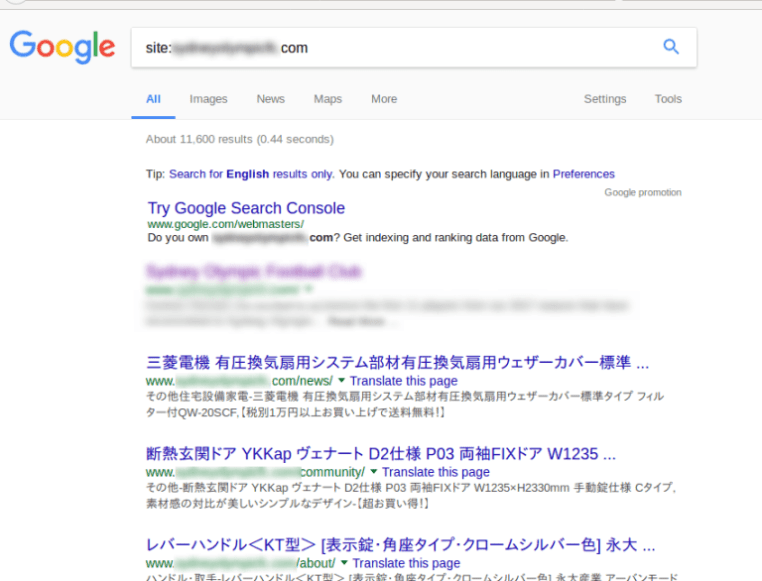 Wordpress-Japanese-Keyword-Hack-Search