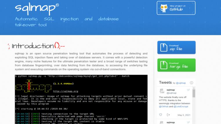 sqlmap - website penetration testing tool