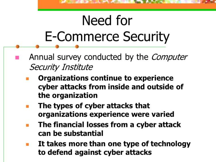 Need+for+E-Commerce+Security - Importance