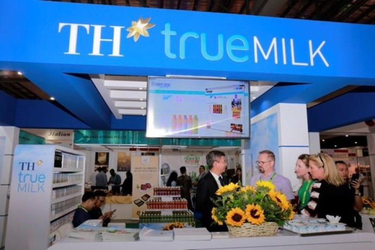 <em>A TH Milk stall is seen at a dairy products fair. Photo:</em> Vietnam News Agency