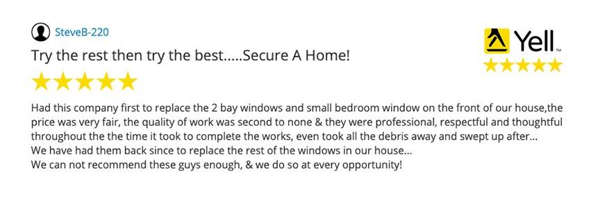 SECURE A HOME YELL REVIEW -STEVE