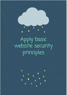 Apply basic website security principles