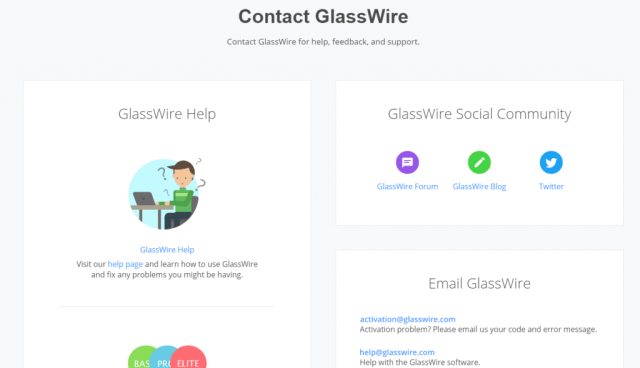 glasswire customer support resources