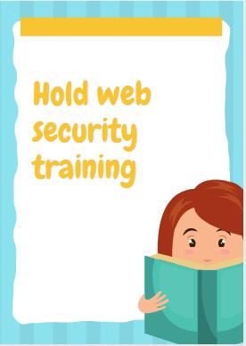 Hold web security training