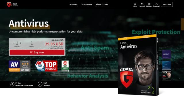 G DATA Security Antivirus