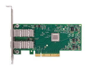 pcb board view of a mellanox connectx 4lx network interface card