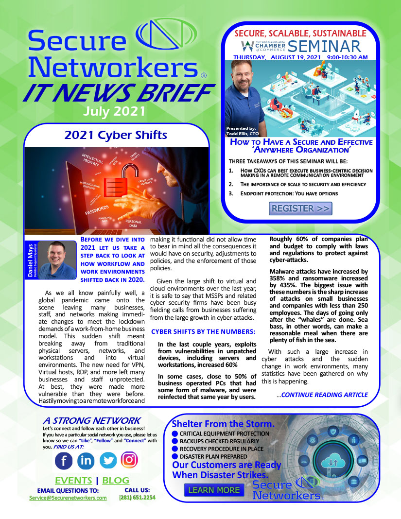 IT News Brief 2021 Cyber Shifts