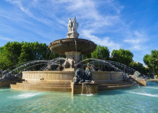 Fountain in Aix-en-Provence, Provence