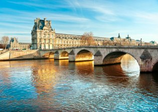 The Louvre from the Seine River, Paris