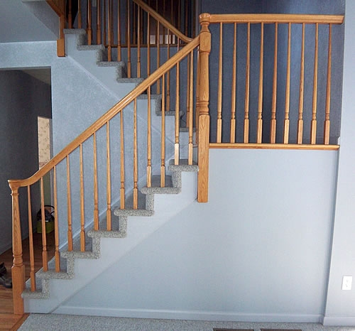 Painting Stairs Diy Faqs And Tips Your Home Only Better | Carpet For Garage Stairs | Concrete | Stair Riser | Concrete Stairs | Stair Runner | Garage Floor