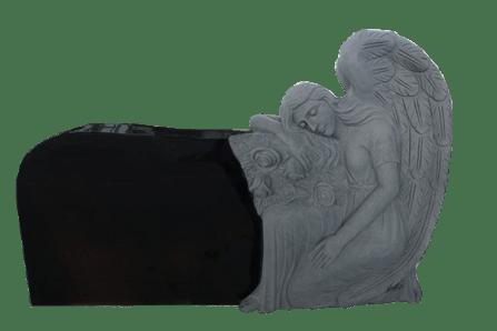 kneeling angel black
