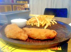You can never go wrong with fish and chips at a bar. The fish was absolutely fresh and succulent, while the beer batter was incredibly light and crispy.