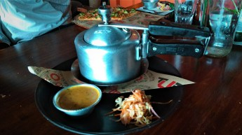 I simply loved that the Mutton Biryani was served in this cute, portable pressure cooker