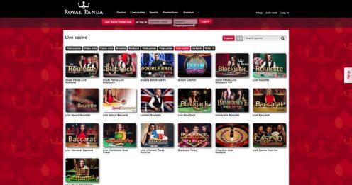 Royal panda casino live dealer