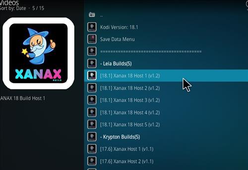 How to install Xanax Build on Kodi 18 Leia step 21