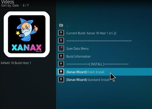 How to install Xanax Build on Kodi 18 Leia step 22