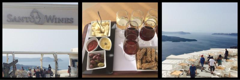 Santo Wines 6 wine flight Thera Santorini Greece