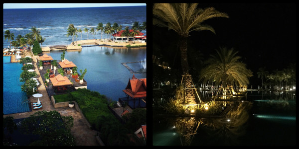 Day & evening views. Dusit Thani Hotel Hua Hin Thailand