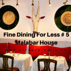 Fine Dining Malabar House Fort Kochi India