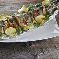 Baked American Shad Fish