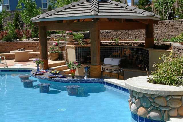 15 Awesome Pool Bar Design Ideas on Backyard Pool Bar Designs id=96810