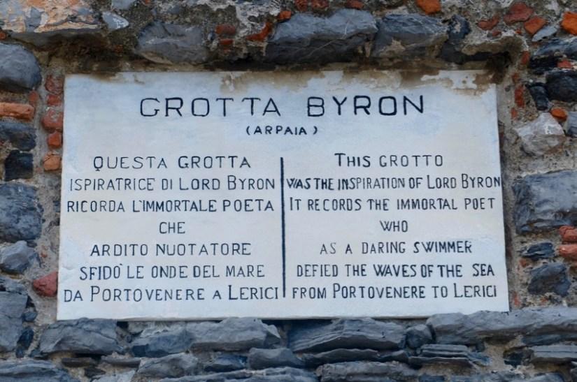 Risultato immagini per grotta byron portovenere