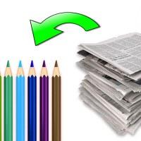 Cómo hacer Lápices con papel de diario