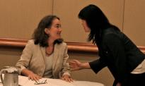 Jennifer Parker (2010 Caucus President), Leilei Zeng (2010 Chair, Canadian Section)