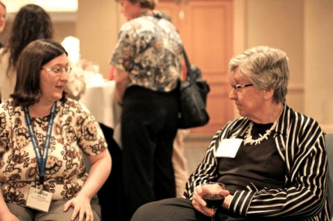 Amanda McCracken (2010 Caucus executive committee member), Mary Gray (past president of the Caucus)