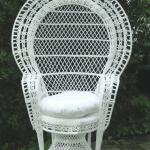 White Wicker Chair Baby Shower Chair