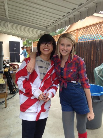 Gianna and Kenny Ridwan on set Maker Shack Agency