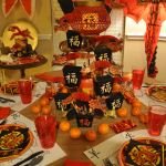 Chinese New Year Of The Sheep Ram Party Decor Ideas With Formal Table Setting Kid S Table