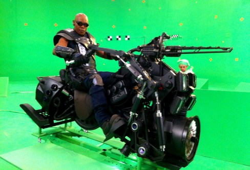 Bokeem riding his jet hog, Montreal, RIDDICK, 2012.