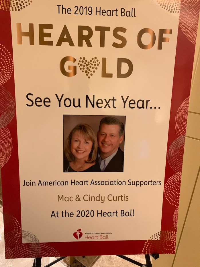 The 2020 Heart Ball co-chairs Mac and Cindy Curtis
