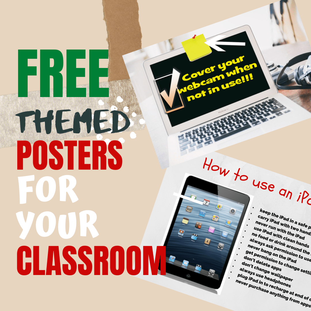 5 (free) Keyboarding Posters to Mainstream Tech Ed