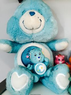 """Bedtime Bear 13"""" plush and 3"""" poseable"""