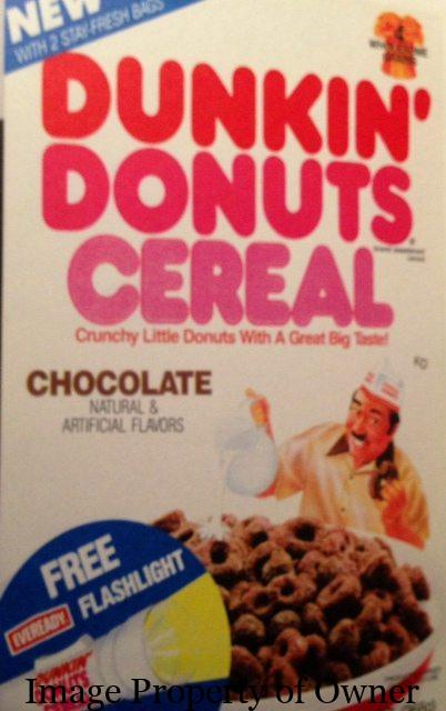 Dunkin Donuts Cereal author unknown