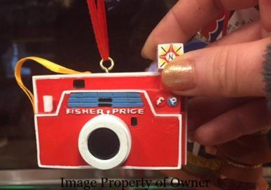 FP Hallmark Cube flash camera ornament