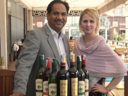 With Abhay, learning all about Four Seasons Indian Wine